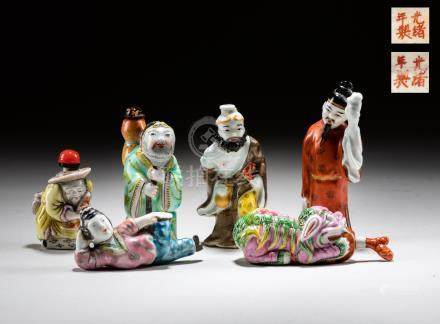 Group Republic Period Chinese Porcelain Snuff Bottles