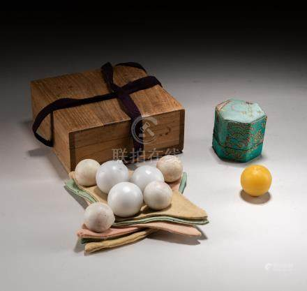 Group Chinese Vintage Cheongsimhwan Medicine