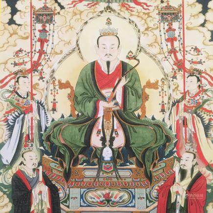 Chinese Hanging Scroll of 'Immortal' Painting