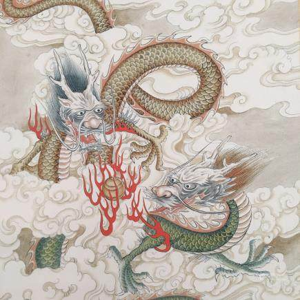 Chinese Hanging Scroll of 'Dragon' Painting