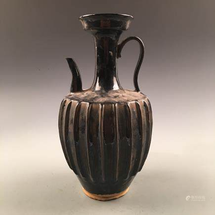 Chinese Black Glazed Pitcher
