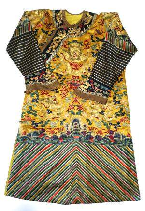 CHINESE SILK EMBROIDERY EMPEROR'S ROBE