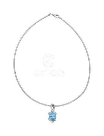 "Aquamarin-Diamant-Collier ""Dreams by Bucherer ..."