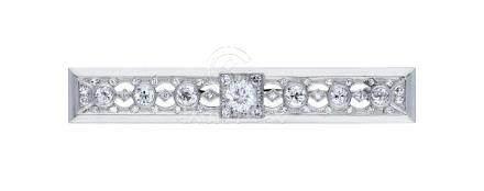Diamant-Brosche, ansprechende Stabbrosche, in ...