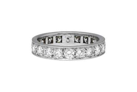 Diamant-Alliance-Ring, sehr dekoratives Design in ...