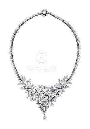 Diamant-Collier, betörendes Weissgold-Modell ...