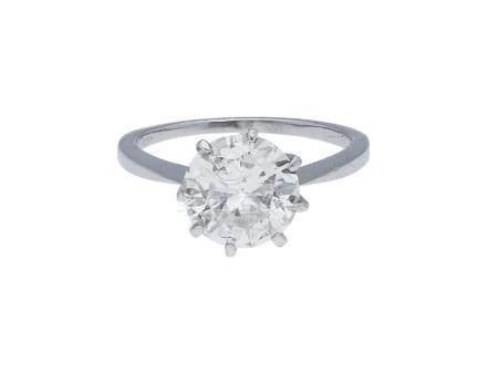 Brillant-Ring, sehr imposantes Solitär-Modell in ...
