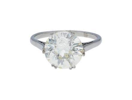 Diamant-Solitär-Ring, klassischer Solitär in ...