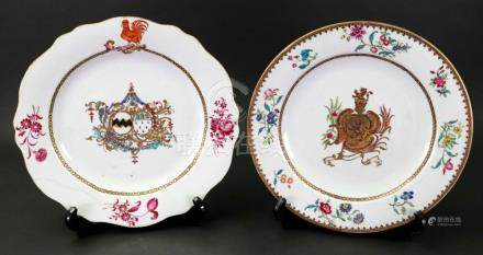 A Chinese famille rose armorial plate, Qianlong,