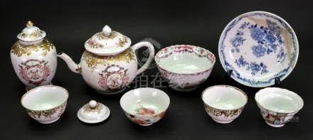 A Chinese Export armorial part tea service, Qianlong,