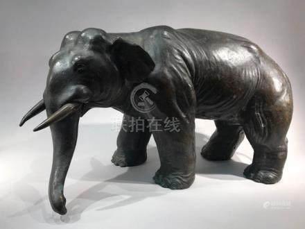 Japanese Bronze Elephane
