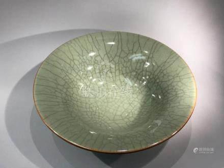 Chinese Guan Crackle Celadon Porcelain Bowl
