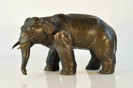 Japanese Bronze Model of Elephant