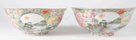 Pair Chinese Porcelain Bowls - Milifloral