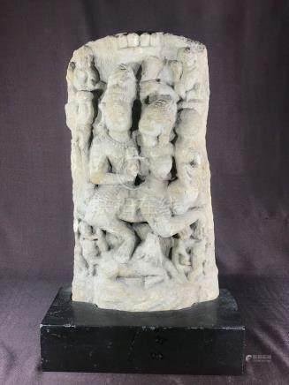 Antique Indian Sandstone Carving of Dancer