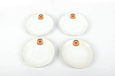 A Set of Four Chinese Porcelain Plates