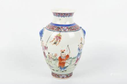 A Chinese Famille-Rose Porcelain Vase