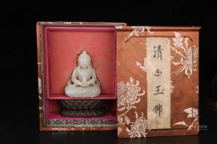 A HETIAN JADE BUDDHA