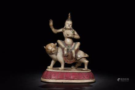 A SOAPSTONE BUDDHA