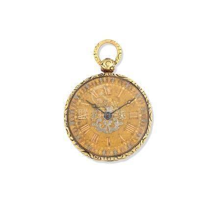 Robert Roskell, Liverpool. An 18K gold key wind open face pocket watch Chester Hallmark for 1821