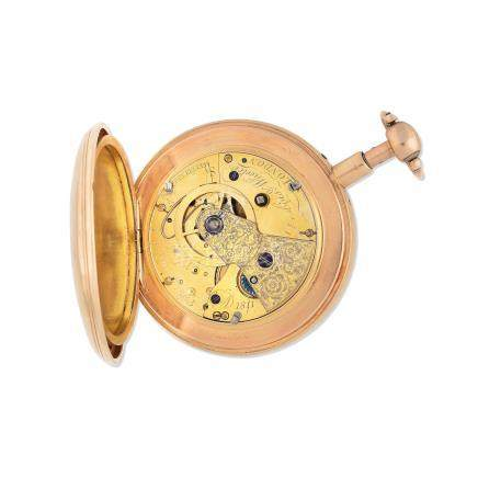 Desbois & Wheeler, London. An 18K gold key wind quarter repeating open face pocket watch London Hallmark for 1810, movement dated 1811, converted from a duplex to a lever escapement in 1907