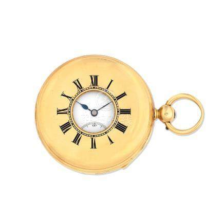 Hunt & Roskell, 156 New Bond St, London. An 18K gold key wind minute repeating half hunter pocket watch with duplex escapement London Hallmark for 1834