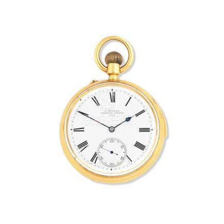 Clifford Lupton, Cornhill, London. An 18K gold keyless wind quarter repeating open face pocket watch London Hallmark for 1882