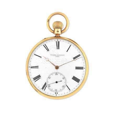 Thomas Peake, 29 Queen Street, Golden Square, London. An 18K gold keyless wind open face pocket watch Circa 1870