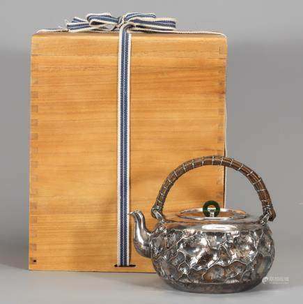 CHINESE SILVER TEAPOT