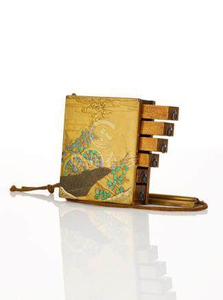 Japanese Lacquered Square Inro