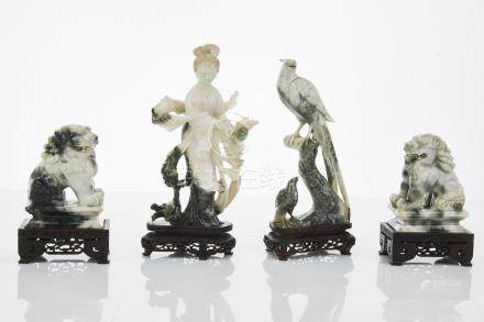 Assorted Chinese Carved Honan Jade Figures