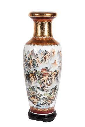 Pair of Monumental Porcelain Chinese Vases