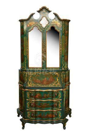 Venetian Secretaire Bookcase
