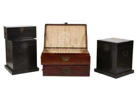 Assorted Chinese Wooden Boxes