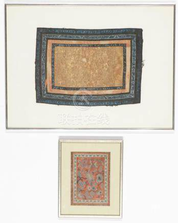 2 Framed Antique Chinese Silk Textiles