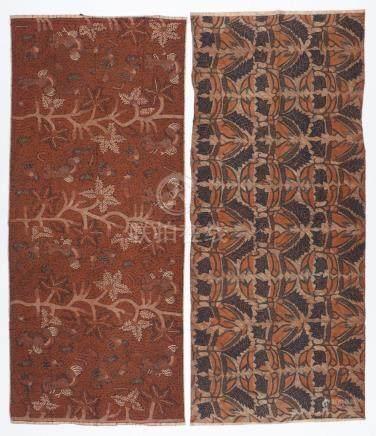 2 Old Indonesian Tulis Batik textiles