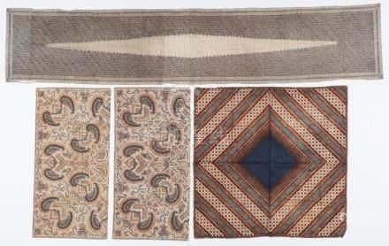 3 Antique Indonesian Tulis Batiks