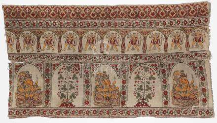 Early 19th C. Indian Block Print Textile