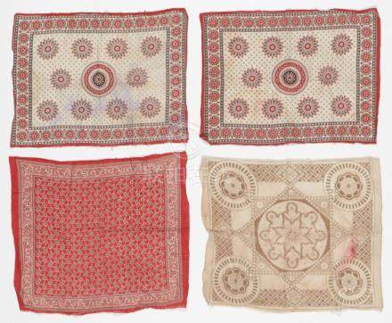 4 Antique Temple Textiles/Flags, Ceylon/Sri Lanka