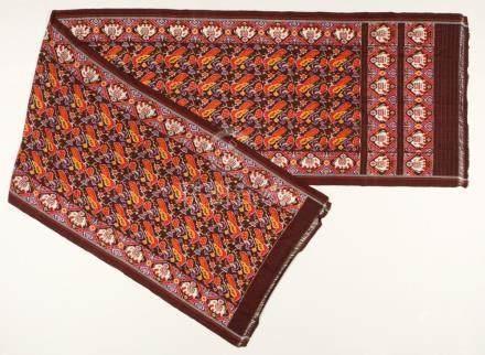 Vintage Silk Ikat Sari Panel, Hyderabad, India