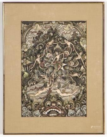 I. Wayan Radjin (Indonesian, b. 1945) Painting