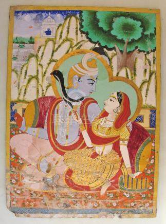 Indian Miniature Painting, Ca. 1850