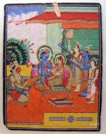 Indian Miniature Painting, Ca. 1880, Jaipur