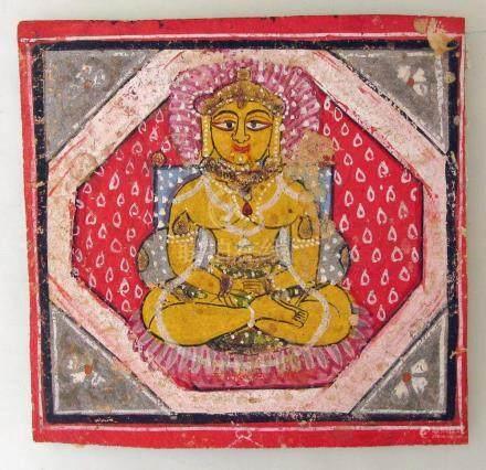 A 19th C. Jain Tirthankara Miniature Painting, Gujarat