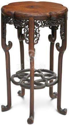 19TH C. CHINESE ROSEWOOD CARVED STAND