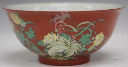 "CHINESE PORCELAIN PAINTED BOWL, 6"" D"