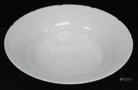 "CHINESE CELADON POTTERY BOWL, 7"" D"