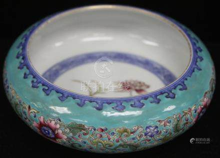 "CHINESE PORCELAIN ENAMELED BOWL, 6 1/2"" D"