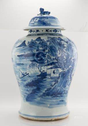 Chinese 19th Century Vase with Cover