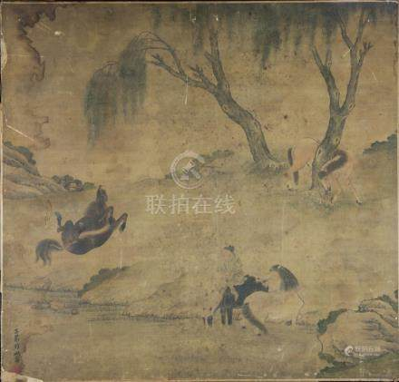12th – 19th Century Old Chinese Painting – Paper Mounted on